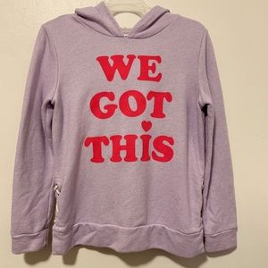 "Old Navy ""We Got This"" girls hoodie- XL"